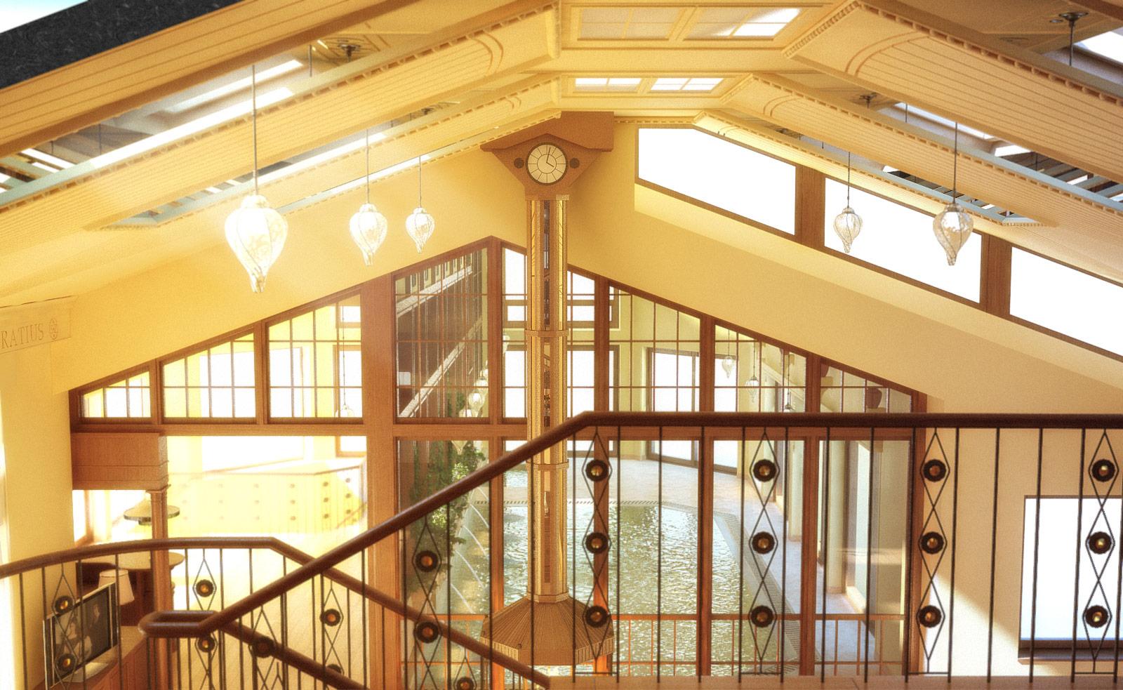 Вид с балкона библиотеки на второй свет.