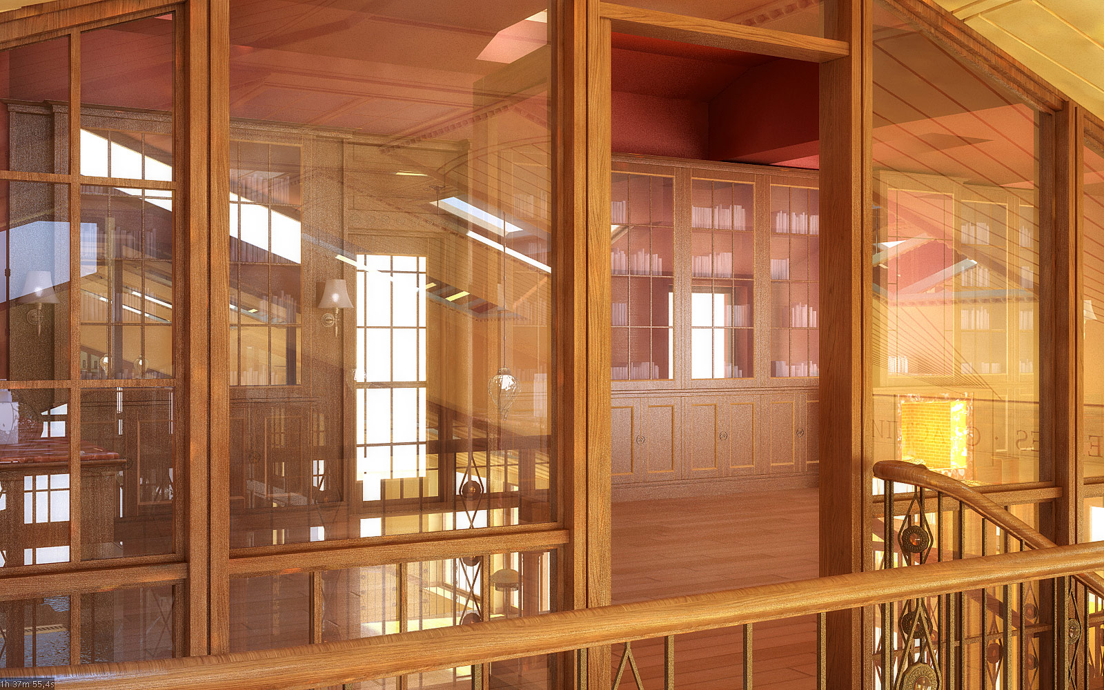 Библиотека. Вид с балкона.
